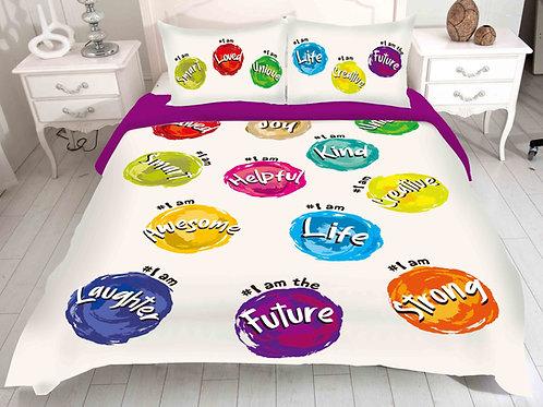 Hash-tag Self-Affirming Reversible Comforter Set-2 colors