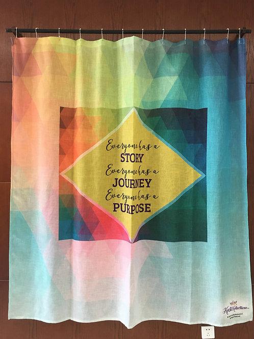 KRISTIKOLLECTIONSLLC Inspirational Shower Curtain07-8% Linen