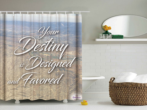 Adult Inspirational Shower Curtain