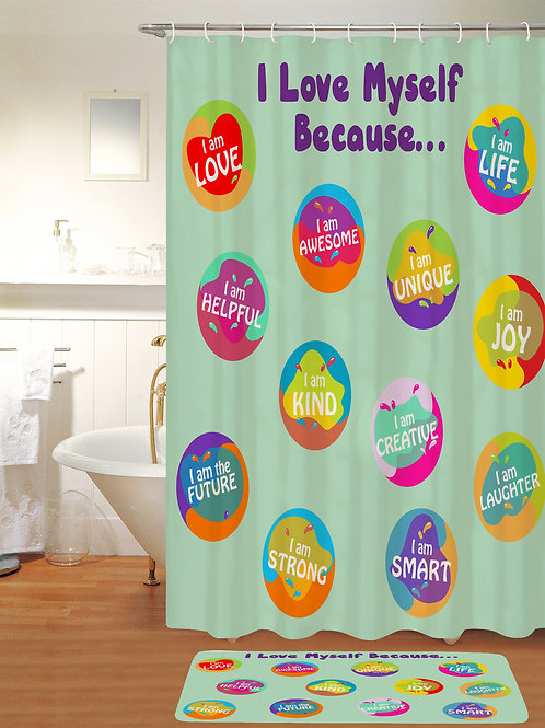 KristiKollectionsLLC Self Affirmation Shower Curtain-6 COLORS