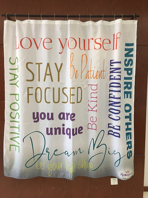 KRISTIKOLLECTIONSLLC Inspirational Shower Curtain05-8% Linen