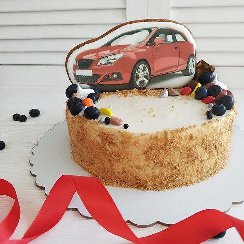 Торт с машинкой