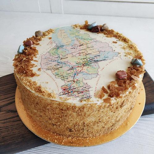 Торт с картой