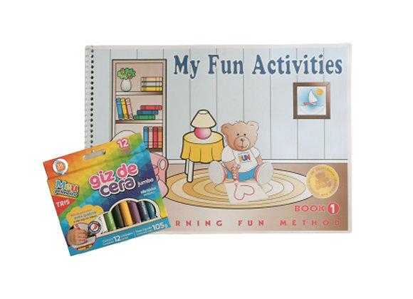 My Fun Activities 1 - com caixa de lápis de cera 12 cores