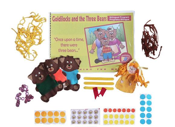 Kit Goldilocks and the Three Bears com kit colagem - Tamanho A3