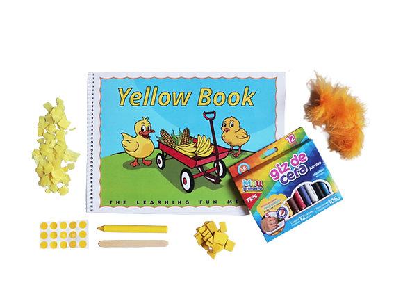 Yellow Book com kit colagem