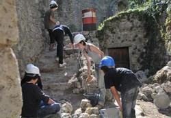 Работы по укреплению башни