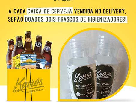 Ação social da Kairós Cervejaria pretende doar 1000 frascos de higienizadores de mãos!