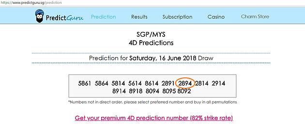 SG Pools 4D (Sat 16 Jun 18) Strike Starter Prize!