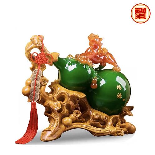 Longevity Gourd with Wealth Pi Xiu
