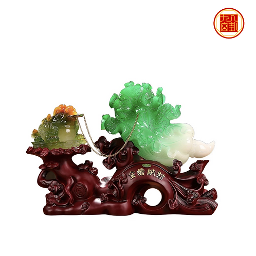 Wealth Toad with Jade Cabbage