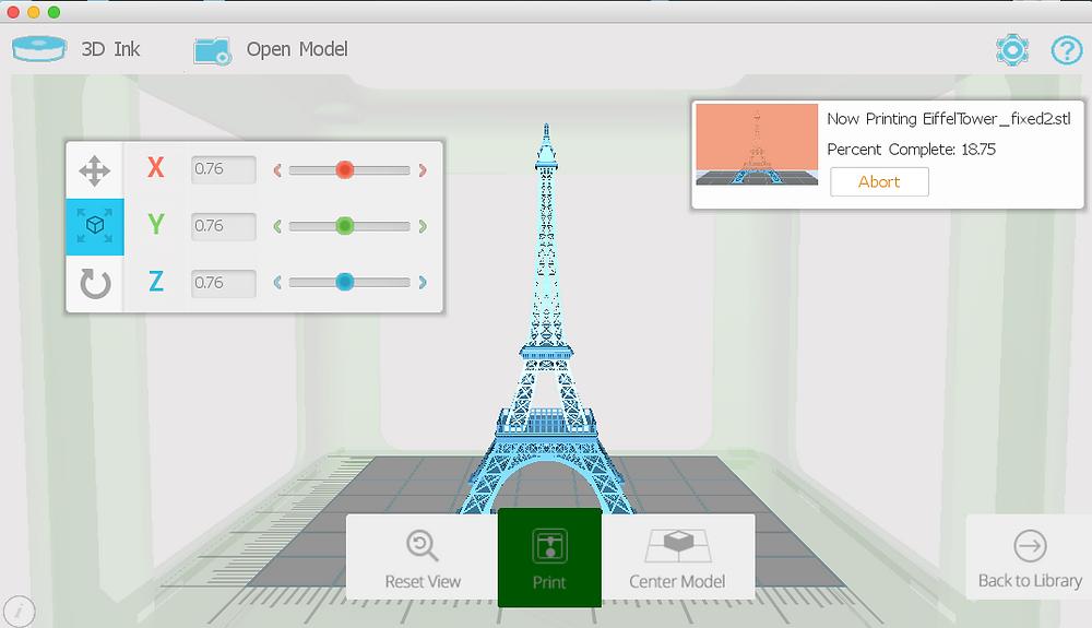 Micro M3D Screen Shot Example
