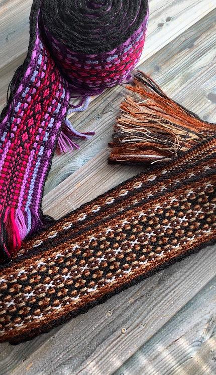 Handcrafted fabric belt