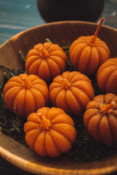 SET of 5 Pumpkin candles