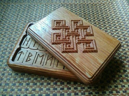 Runic handmade wooden set