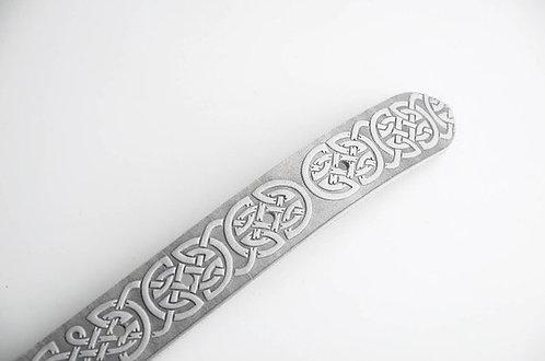 Grey Celtic leather belt