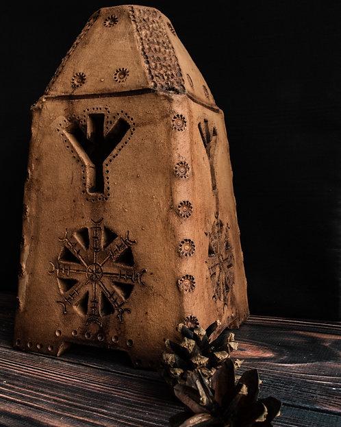 Yule lamp Algiz rune