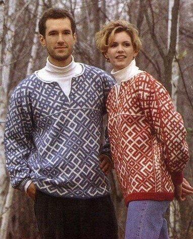 Russian pattern sweater reconstruction