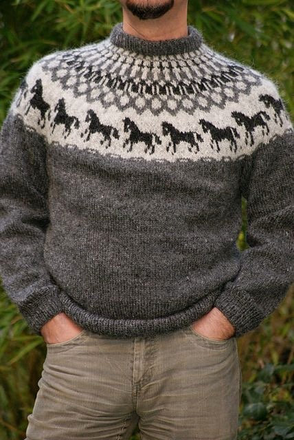 Sweater with horses