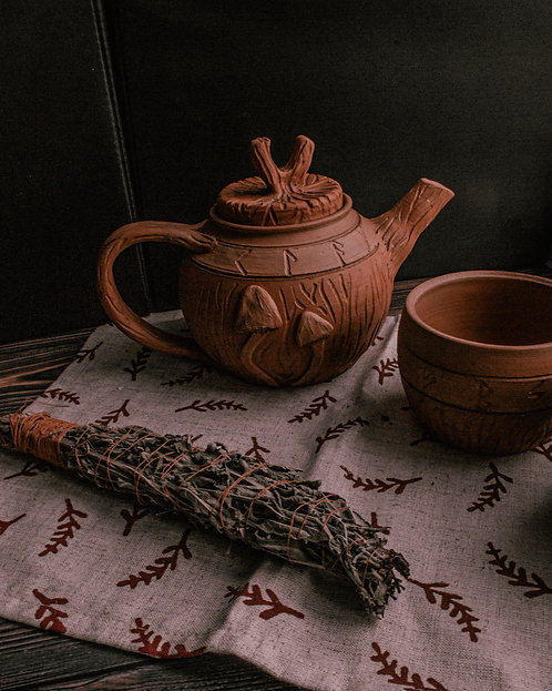 Set Ceramic teapot and 2 cup