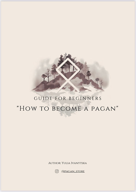 """Guide for beginners """"How to become a pagan"""""""