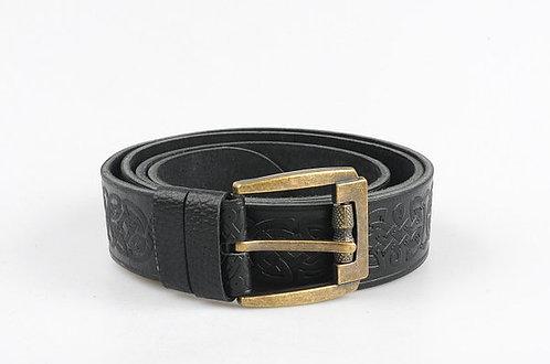 Black Celtic leather belt