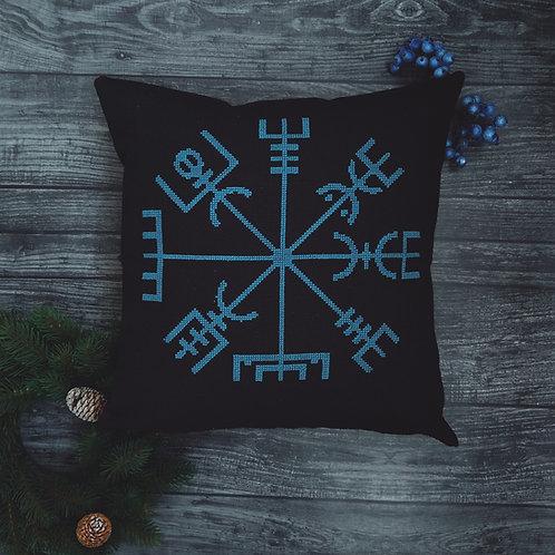 Blue Vegvisir pillow