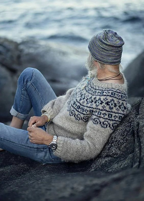 Grey lopapeysa sweater