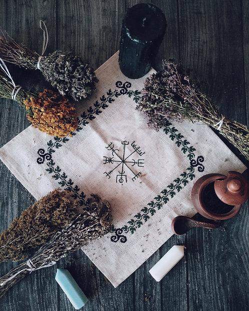 Vegvisir linen altar cloth
