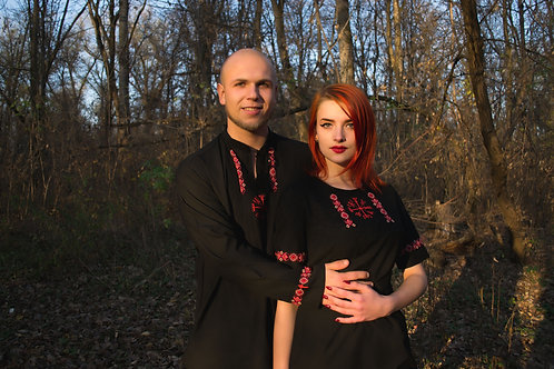 Black Vegvisir shirt and dress