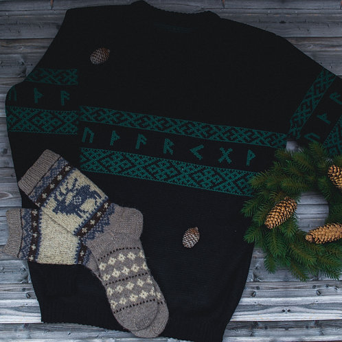 Runic sweater + socks