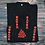 Thumbnail: Valknut shirt with traditional red embroidery
