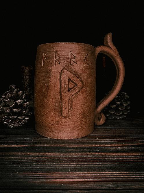 Rune beer mug
