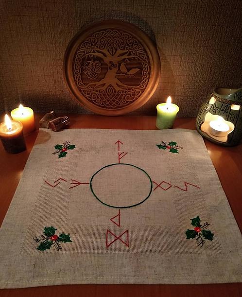 Altar cloth for Yule