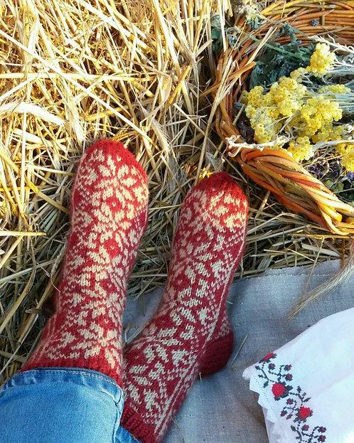 Traditional woolen socks
