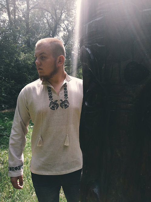 Two Ravens traditional linen shirt