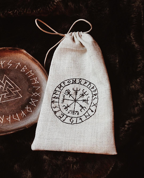 Rune Storage linen Bag