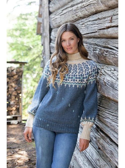 Woman's blue sweater