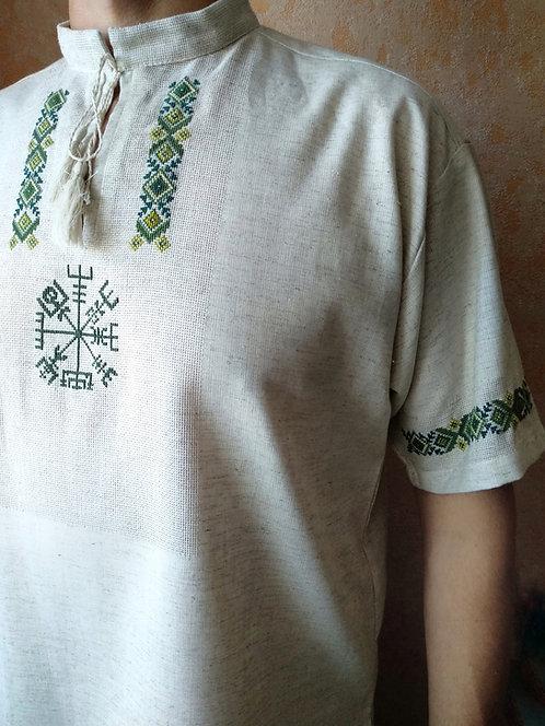 Short sleeves Vegvisir linen shirt