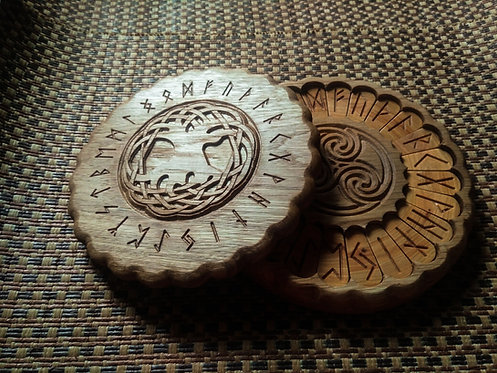 Yggdrasil with runes Runic set