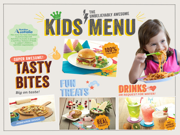 The new kids' menu has been launched!