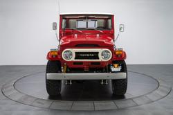 Red 1976 FJ45 Pickup Truck