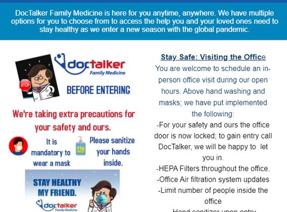 DocTalker Fall Newsletter October