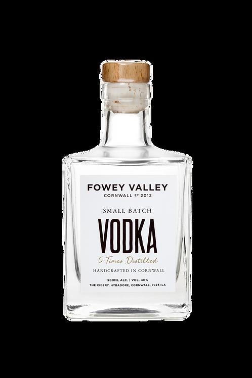 500ml bottle of Fowey Valley Vodka