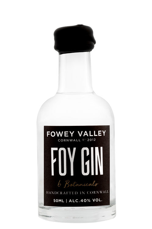 50ml miniature bottle of Foy Gin