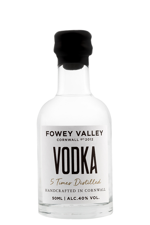 Miniature bottle of Fowey Valley Vodka