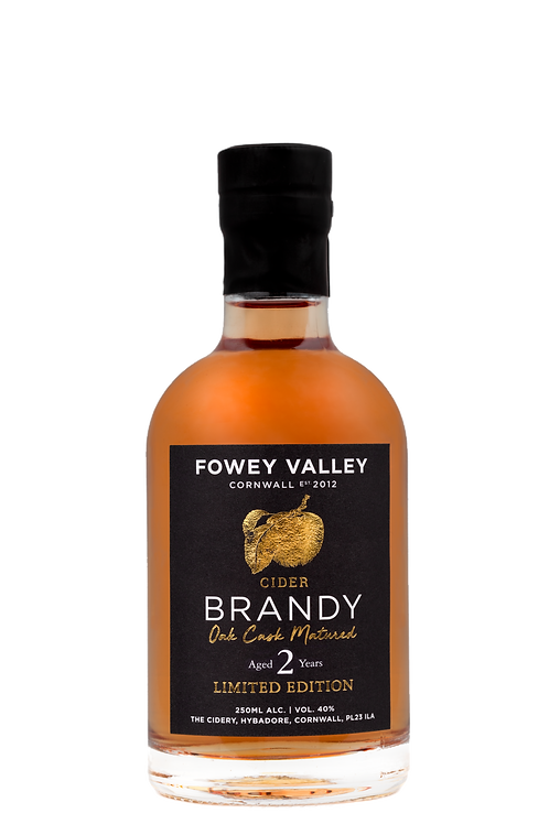 Oak aged Cider Brandy, Two year old, 250ml.