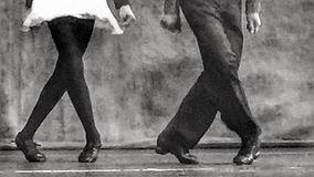 girl and guy dance feet