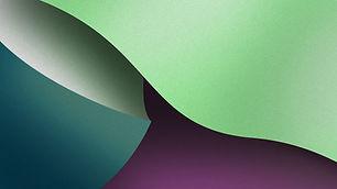 Grün und Lila Abstrakt