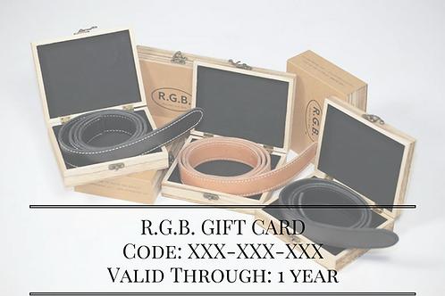 R.G.B. Gift Card